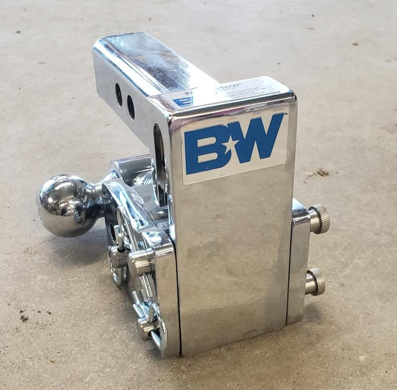 """BW Tow and Stow 3"""" drop with dual ball mount"""