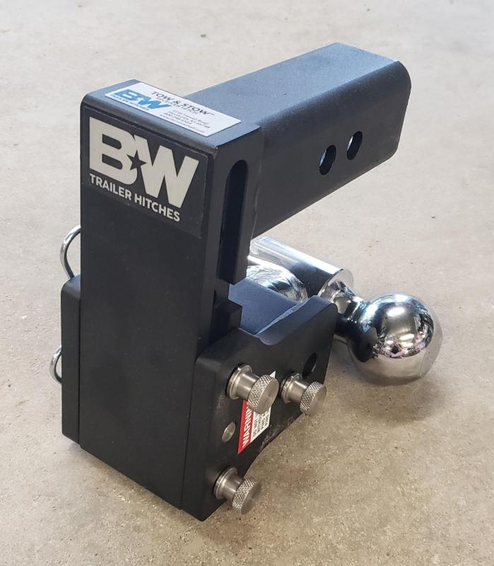 "BW Tow and Stow 5"" drop dual ball Hitch"