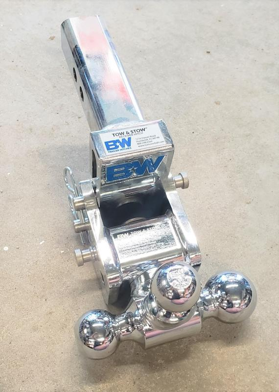"BW Tow and Stow 3"" Tri dual ball Hitch"