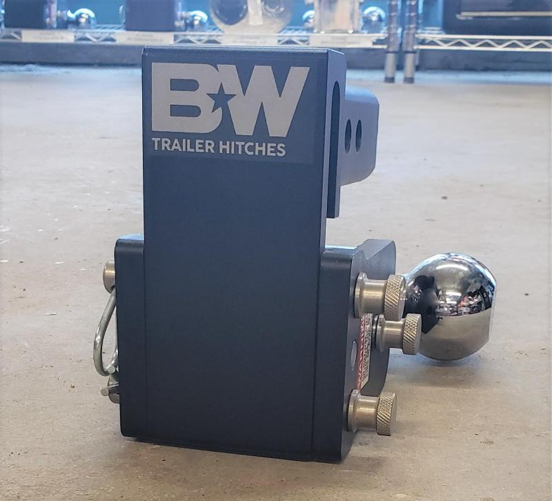 """BW Tow and Stow 3"""" drop dual ball Hitch"""