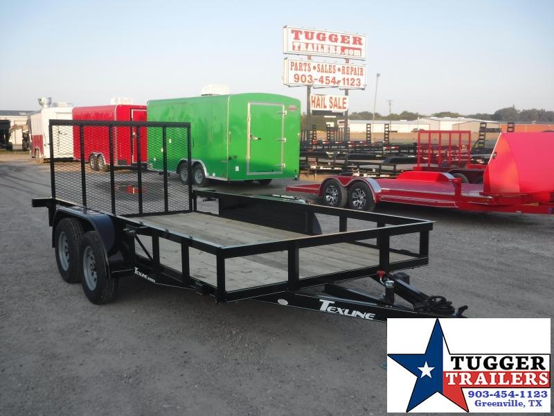2019 TexLine 77x14 14ft Flatbed Ramp Utility Trailer
