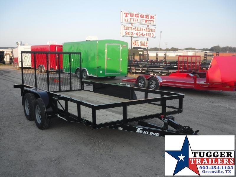 2019 TexLine 77x14 14ft Flatbed Ramp Utility Trailer