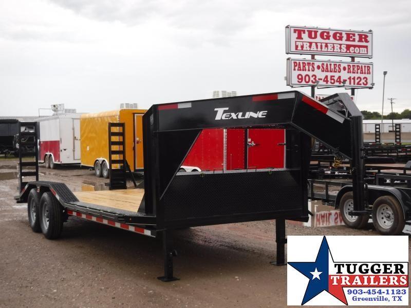 2019 TexLine 83x20 20ft Gooseneck Equipment Utility Flatbed Trailer