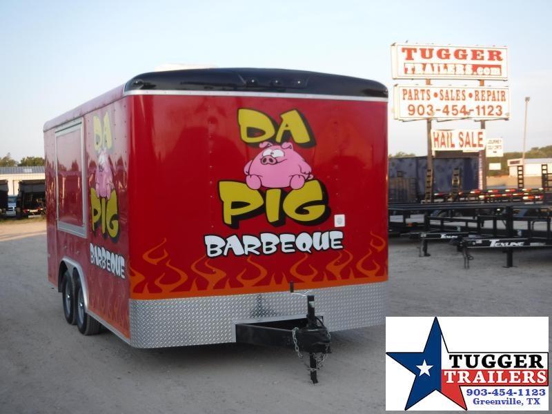 2016 Cargo Mate 8.5x16 16ft Food Street Taco BBQ Vending / Concession Trailer