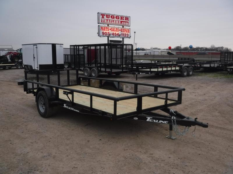 2019 TexLine 77X14 14FT 2019 Black Stealth Utility Trailer