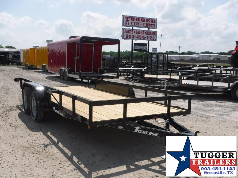 2019 TexLine 77x16 16ft Flatbed Utility Trailer