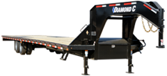 2019 Diamond C Trailers 102x40 40ft Black Gooseneck 2019 FMAX210 Flatbed Trailer
