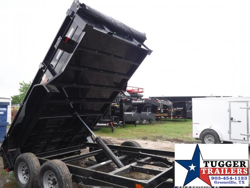 2019 Diamond C Trailers 77x12 12ft Black 2019 EDM252L Dump Trailer