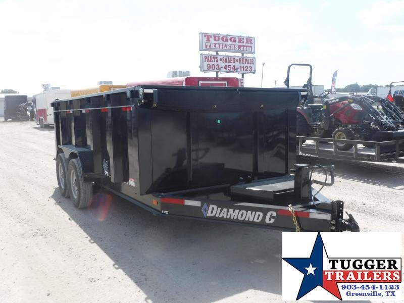 2019 Diamond C Trailers 82x14 14ft Black 2019 LPD Dump Trailer