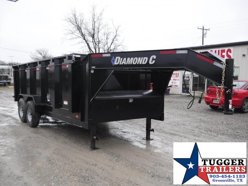 2018 Diamond C Trailer 82 x 16 Gooseneck Dump Trailers