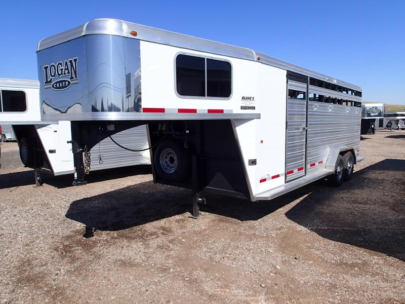2015 Logan Coach Stockman Combo 20' GN Livestock Trailer