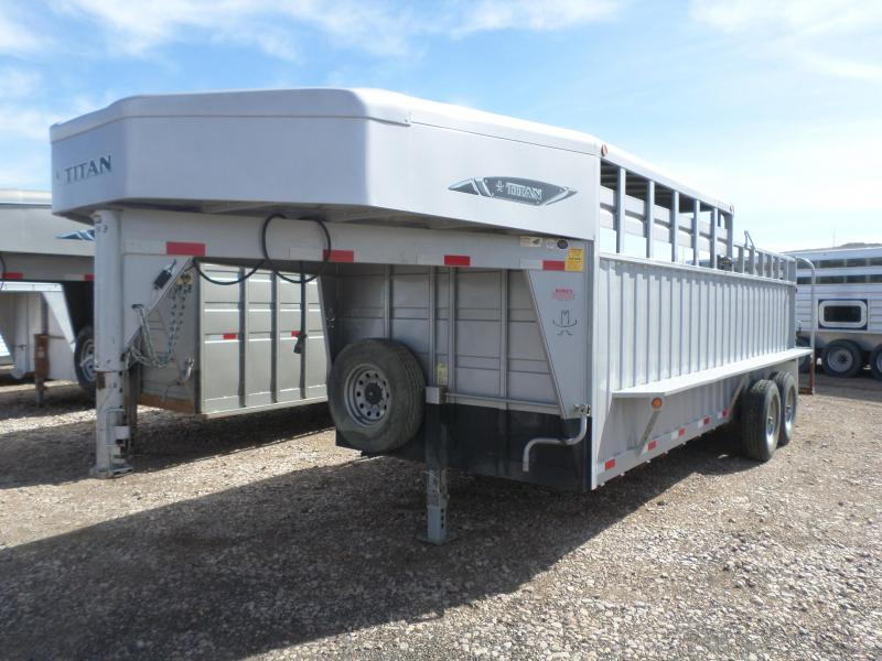 2015 Titan Trailers Rancher Livestock 1/2 top Trailer