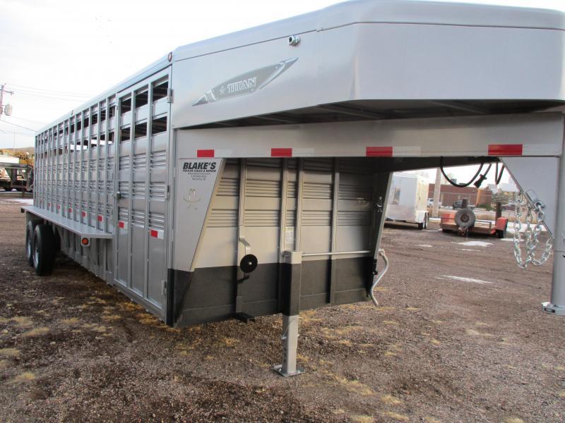 2018 Titan Trailers Standard Livestock Trailer 7X24