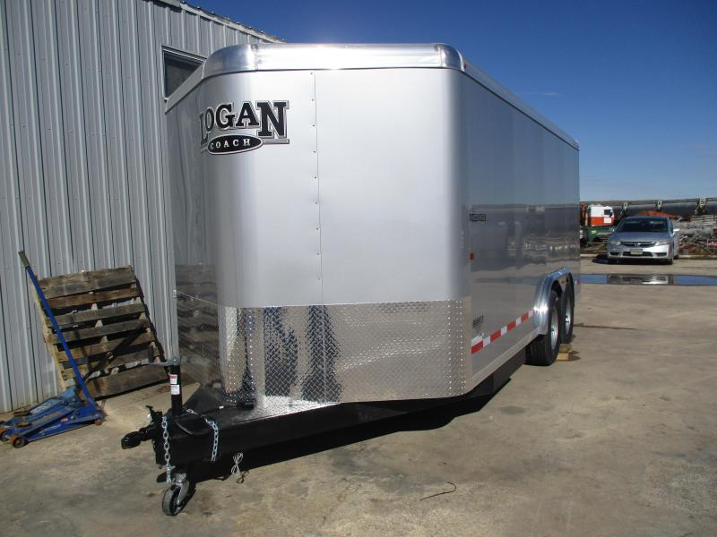 2019 Logan Coach Contractor Enclosed Cargo Trailer 8 X 16
