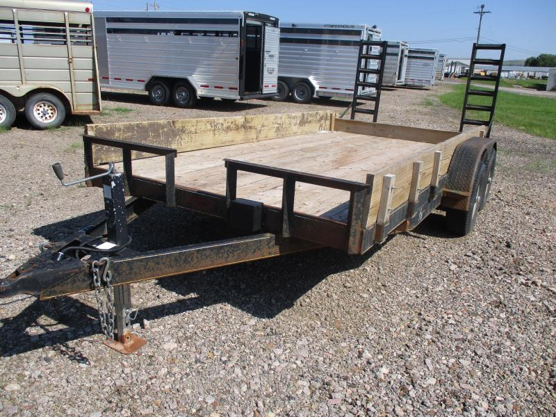 2007 H and H Trailer Flatbed Trailer 82 X 18