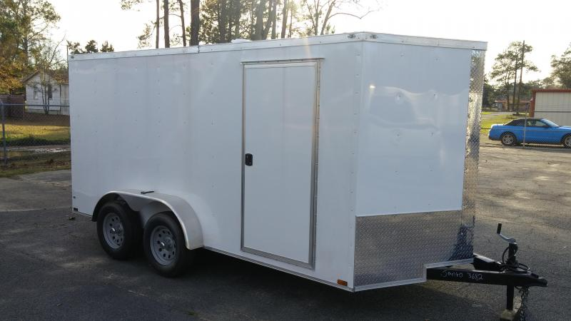 "2018  7 X 16 TA Motorcycle Trailer  6'9"" Interior Hgt"
