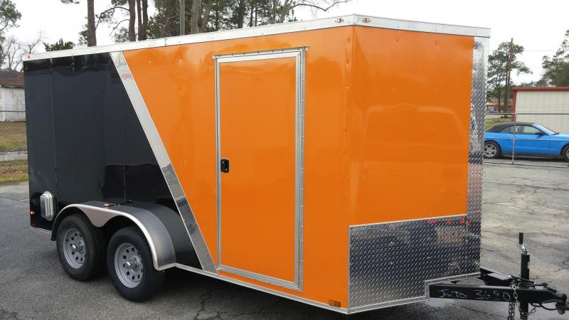 2018  7 X 14 TA Motorcycle Trailer Two Tone