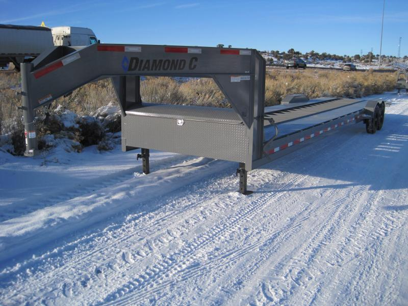 ON SALE We need to move some inventory- Lowest Prices of the Year. 2020 Diamond C Trailers MVC207 Car / Open Trailer- Drive Over Fenders- Gooseneck- 14 ply Running Tires- Tool Box- Dual Jacks- 36 foot- 14900 GVWR