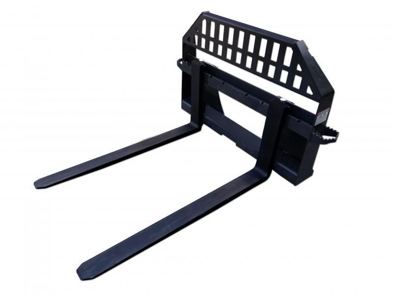 Skid Steer Attachments - Construction Implements Depot Heavy Duty Pallet Forks