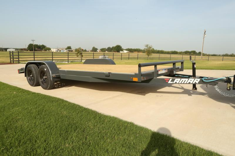2019 Lamar Trailers CE-3.5k-18 Wood Deck Car / Open Car Trailers