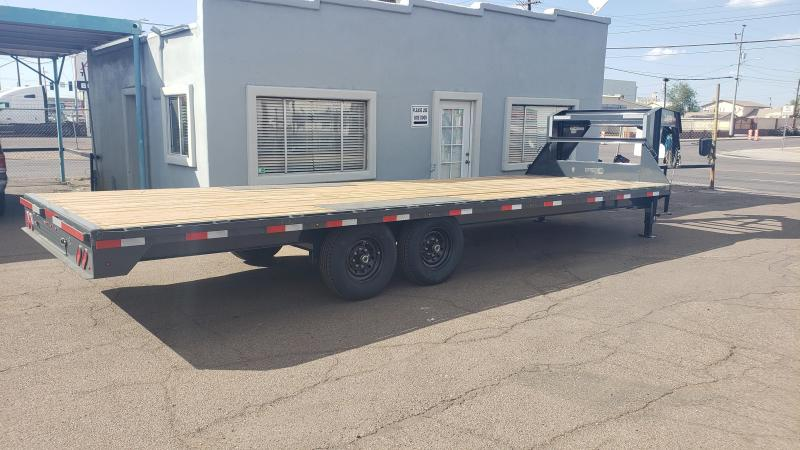 2020 Lamar Medium Deck-Over (F8) 14000# GVWR,Flatbed, 8' slide out ramps, **Cash Discounts**  see below
