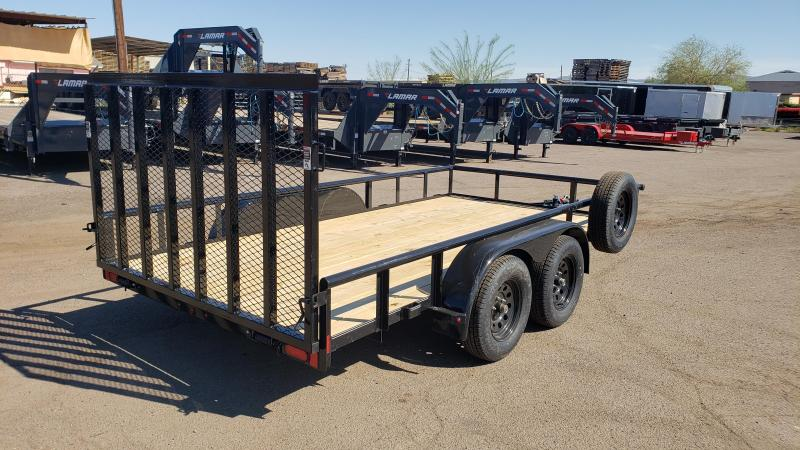 2020 Lamar UT 14' Utility Trailer- 7000# GVWR-Upgraded gate- 2 braking axles-  ***Free Spare***