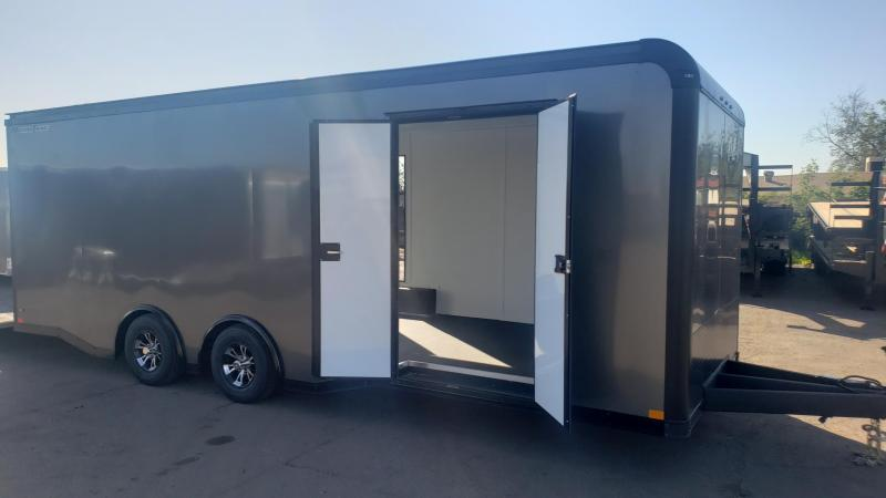 2020 Wells Cargo 24ft Motor Trac  Enclosed Race Trailer- Finished Interior- Spread Axle- Aluminum Wheels- Escape Door
