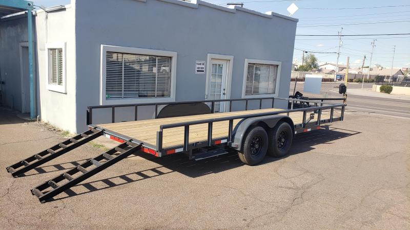2020 Lamar Utility Trailer, Tandem Axle,  9990# GVWR, side load slide in ramps, Pipe Top  **Cash Dicscount*** See below