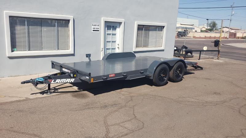 2020 Lamar Trailers ce-3.5k-16 Car / Open Car Trailers, Free Spare Tire, Steel Deck