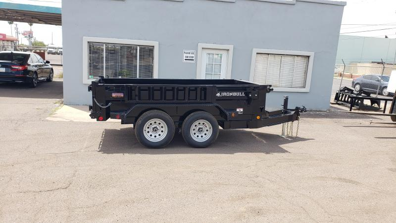 Ironbul Mini Dump Trailer- 5x10- 7000# GVWR- Scissor Lift Ramps- Deluxe Tarp Kit- Adj Coupler- FREE SPARE TIRE- DELIVERY AVAILBLE-Cash Discounts (See Below)