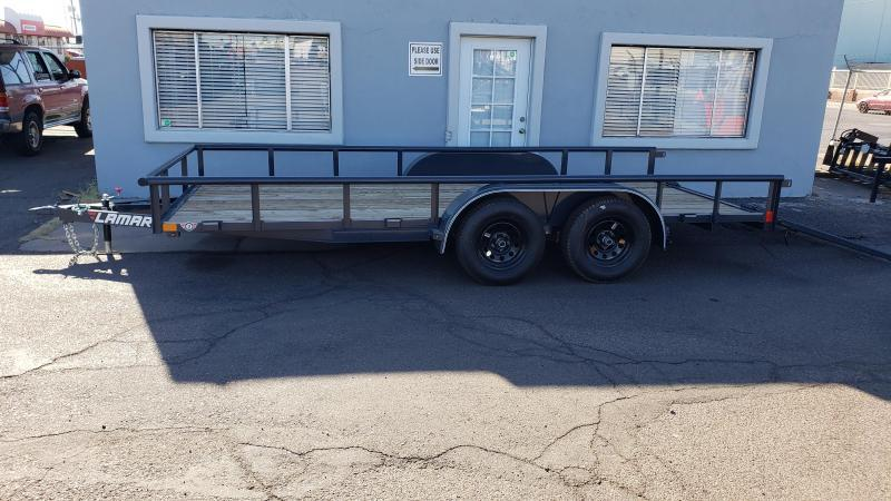 2020 7' x 16' Utility Trailer, 7000# GVWR, Pipe Top,  4' spring assist gate   ***CASH DISCOUNT- SEE BELOW***