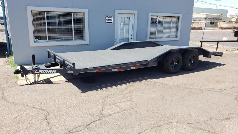 "2019 Lamar Trailers 102"" wide with drive over fenders CC-5.2k-20 Steel Deck Car / Racing Trailer / Buggy Hauler"