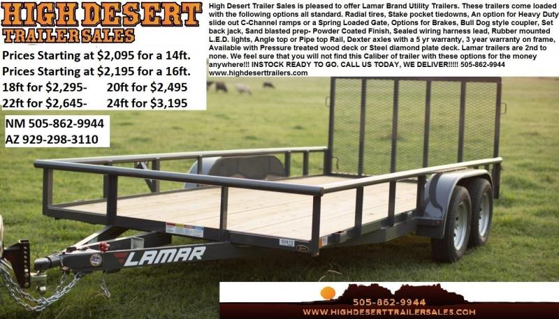 Lamar Utility Trailers- Lowest Prices- Free Delivery- High Desert Trailers