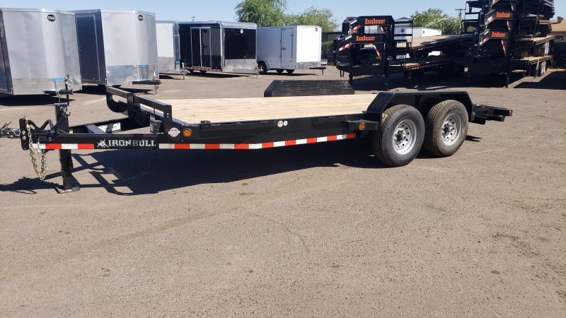 2020 Ironbull- Heavy Duty Equipment Trailer- 18 ft - 7000 lb axles- Free spare- 14000# GVWR
