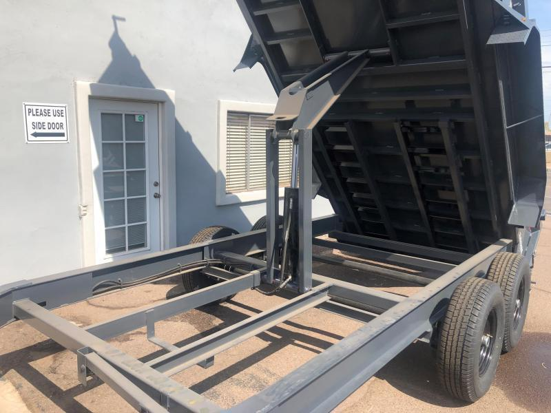 **ON SALE NOW** 2020 Lamar Heavy Duty Dump Trailer- 7x14- 14000# GVWR- 12 inch cross pieces- Scissor Lift-FREE SPARE- Ramps- Deluxe Tarp Kit- 3-way Spreader Gate- Adj Coupler- Cash Discounts (See Below)