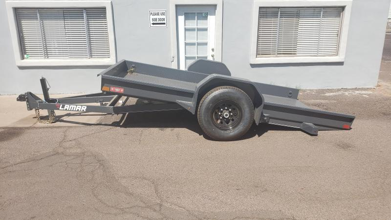 2019 Lamar Trailers Tilt Scissor Hauler Equipment Trailer, Free Spare Tire, 79 inch by 12 Feet