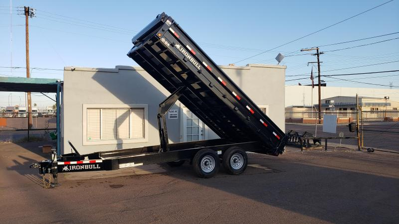 2020 Iron Bull-14k-16' Deck Over Dump Trailer 14000lb GVWR  * Cash discounts available *