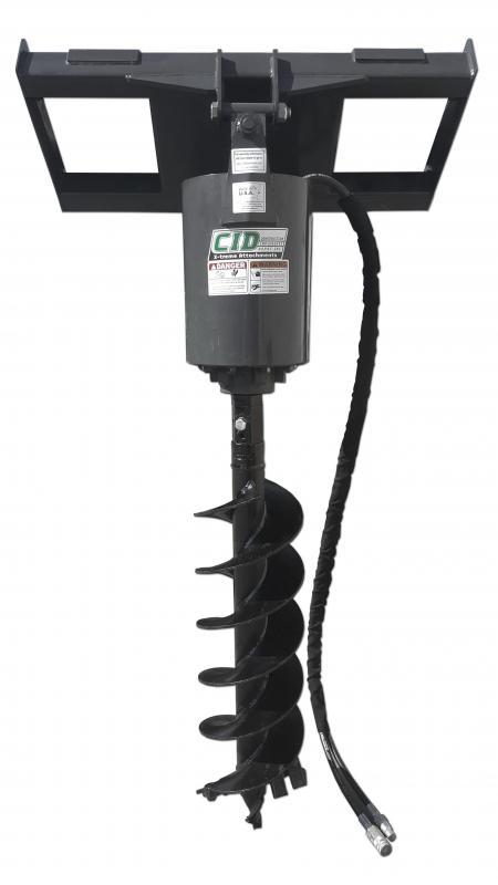Skid Steer Attachments - Construction Implements Depot Heavy Duty Auger Drive **Bit not inclu