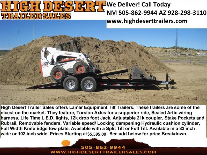 Open and Enclosed Trailers- Lowest Prices- Highest Quality- High Desert Trailers
