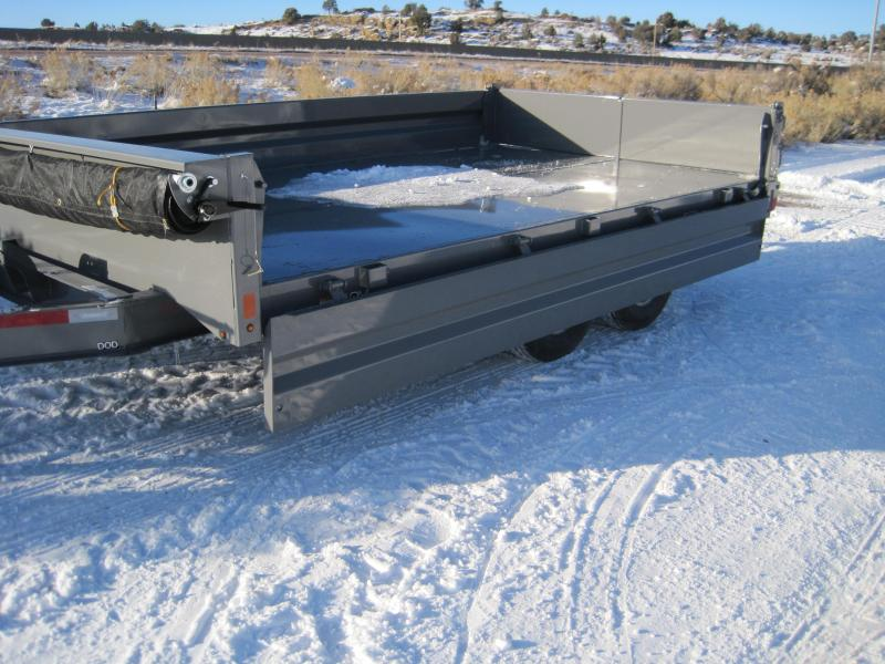 2020 Diamond C Trailers DOD207 Deck Over Dump Trailer- 14900 GVWR- Ramps- Tarp- Fold Down Sides- Upgraded 6 inch Cylinder