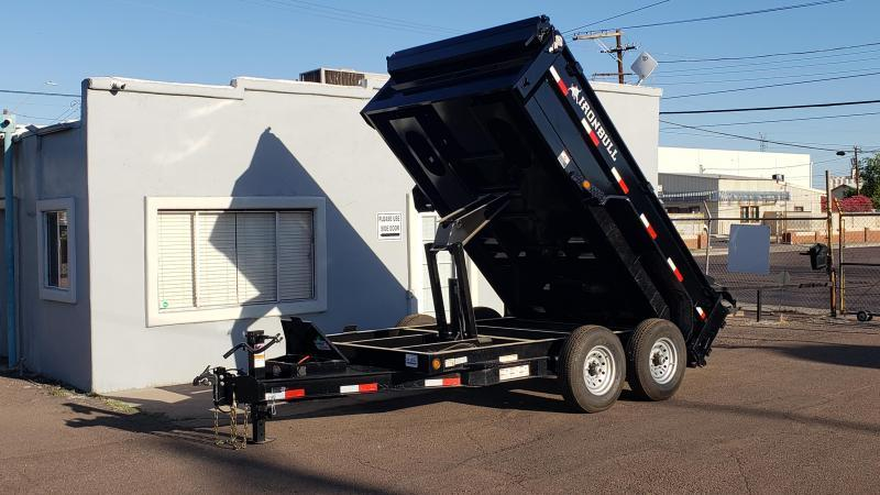 "2020 Ironbull  Dump Trailer 83"" x 12'- 14000# GVWR- Rear support stands-spreader gate-free spare- **cash discounts** see below"