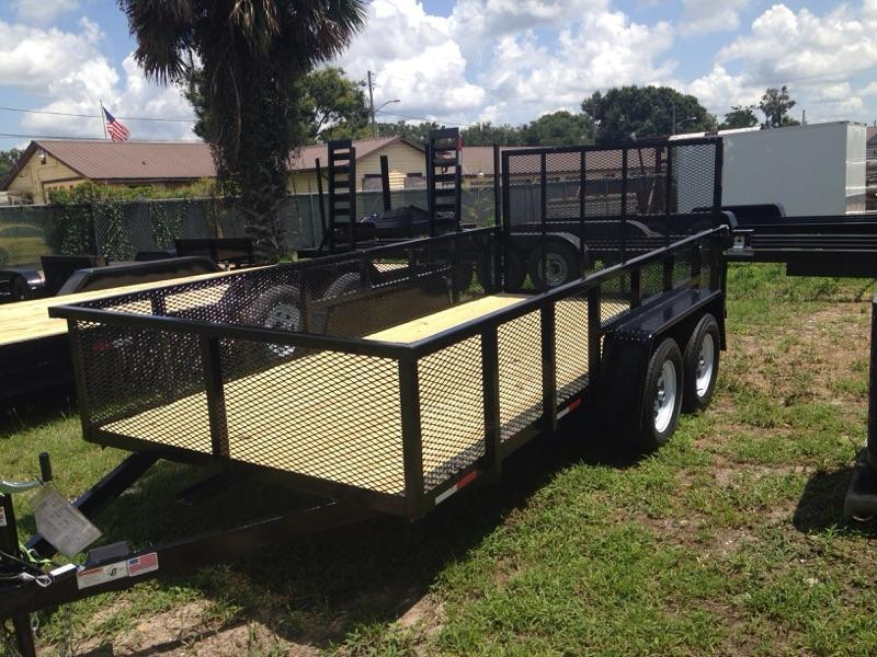 2019 AMP  76x14 Utility Trailer with 24 Sides