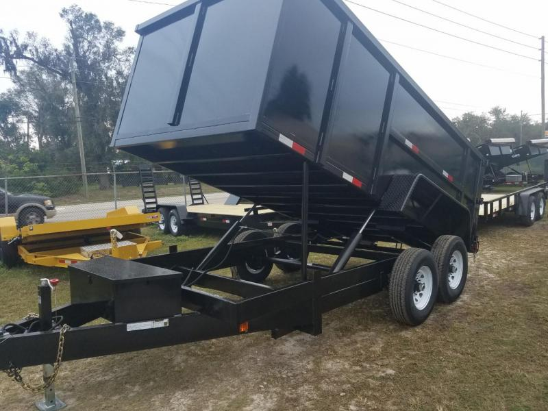2018 7 X 14 Dump Trailer 4' SIDES (GENERAL SERIES)