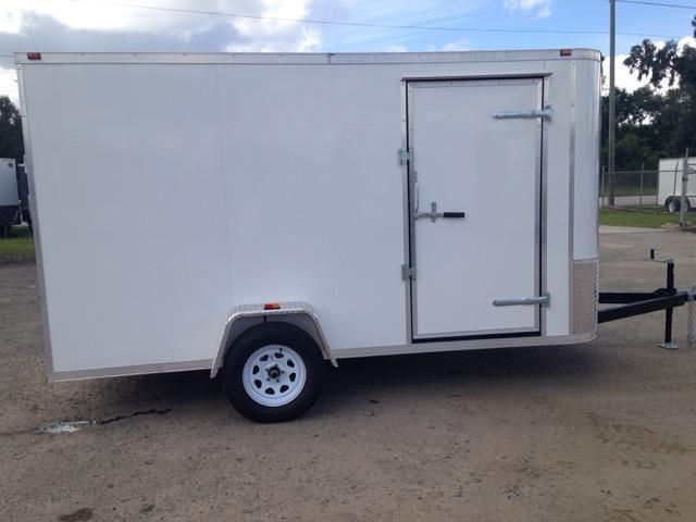 2019 AMP Trailers SINGLE AXLE 6X12 CARGO W/ DOUBLE REAR DOORS