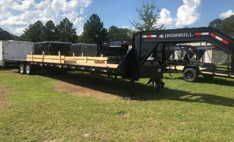 2018 Iron Bull 102x40 Gooseneck Low Pro Equipment Trailer