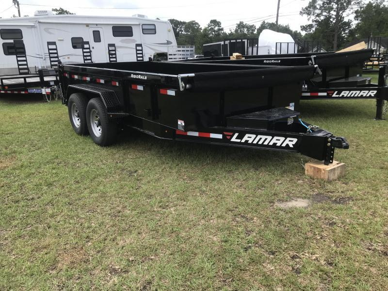 2018 Lamar Trailers 83x14 Low-pro Dump Trailer
