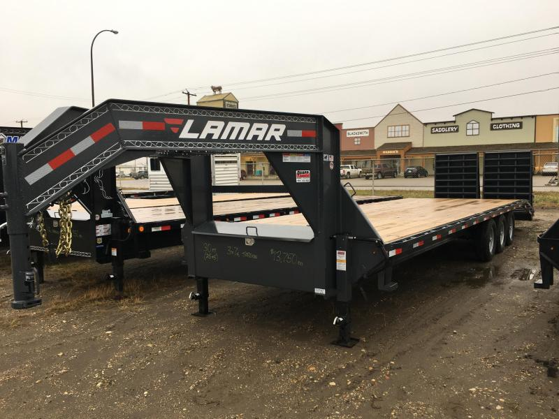 2019 Lamar 30' Triple Axle Torsion Trailer