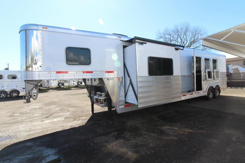 2018 Exiss Endeavor 8314 W/Slide Living Quarters *Couch & Dinette*  3 Horse Trailer