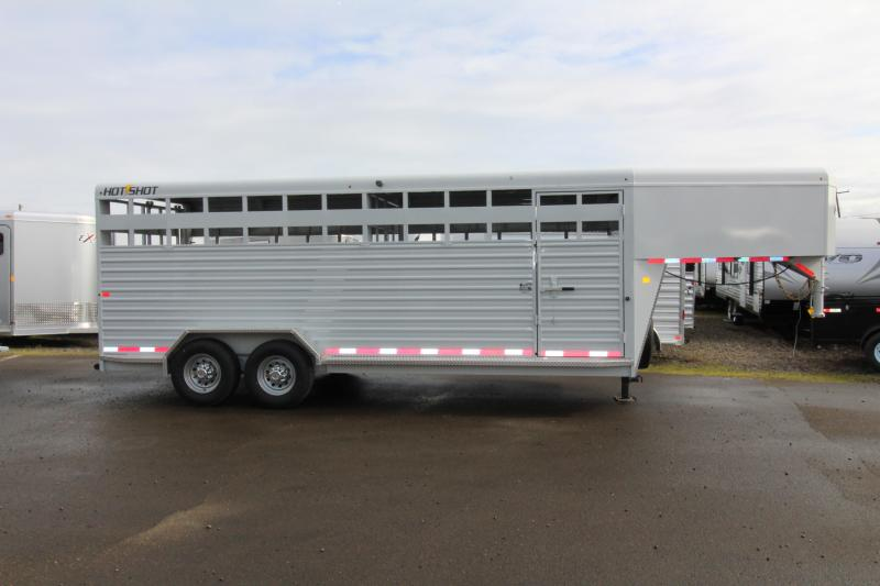 2018 Trails West Hotshot 20 ft. Steel Stock Trailer w/ Sliding Rear Gate