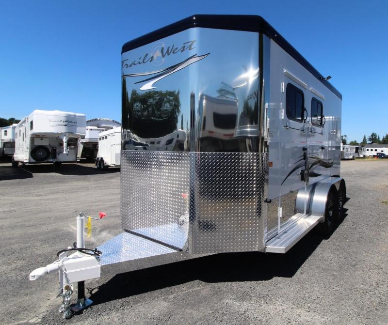 "2020 Trails West Sierra Select 7' 6"" T 2 Horse Trailer Seamless Aluminum Vacuum Bonded Walls and Roof"
